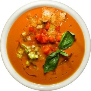 Холодный томатный вегетарианский суп