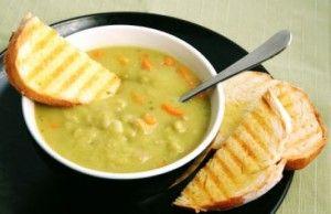 Гороховый суп с соевым соусом