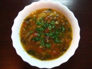 Суп картофельный вегетарианский