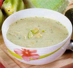 Крем-суп из авокадо с мятой