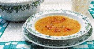 Суп из копченого гуся с фасолью