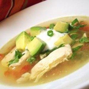 Куриный суп с авокадо