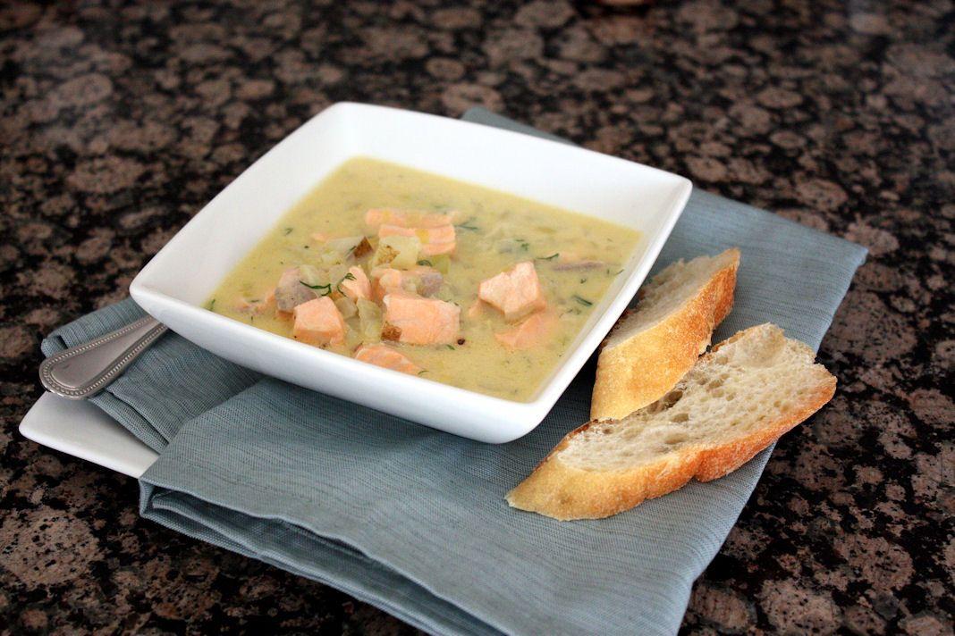 Суп с горбушей свежей и сливками рецепт
