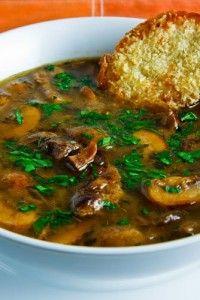 Суп грибной в горшочке