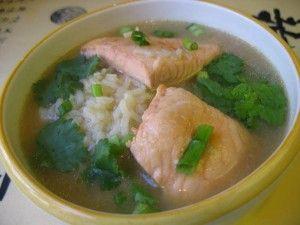 Суп рисовый с горбушей консервированной