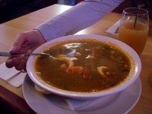 Суп-солянка из кальмаров