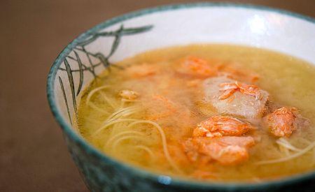 Рецепт супа из лосося с фото