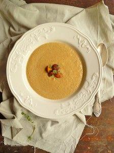 Сырный суп-пюре из лисичек