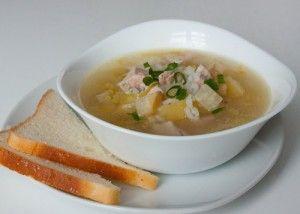 Вкусный суп из индейки с рисом.