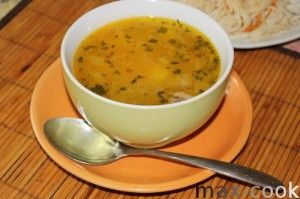 Овсяный суп слизистый.