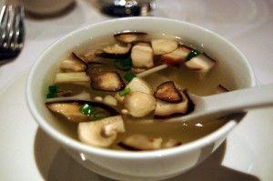 Рецепт грибного супа на языке