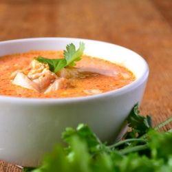 Крем суп из рыбы со сливками