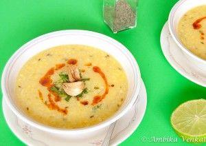 Суп из маша с рисом.