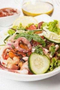 Салатик  с кальмарами «Овощной»