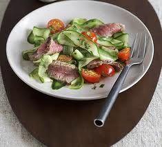 Салат из говядины с огурцами