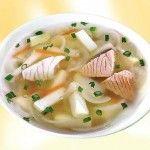 Рыбный вегетарианский суп