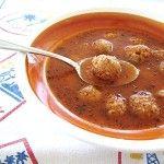 Суп с мясными фрикадельками для детей