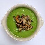 Сырный суп с брокколи и грибами