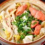 японский суп с лососем и рисом
