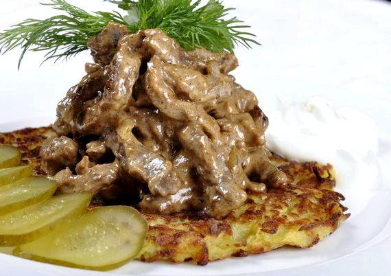 Бефстроганов из говядины рецепт классический со сметаной