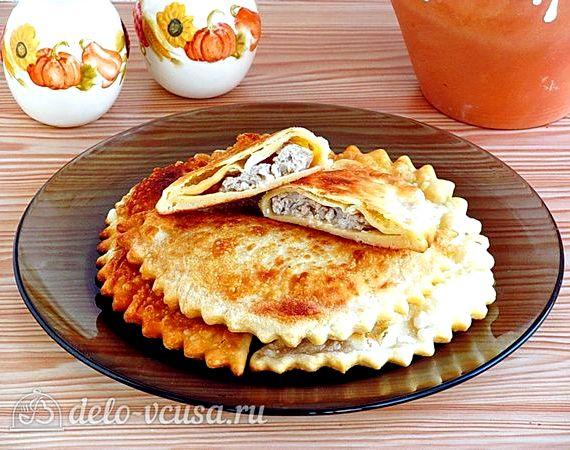 Чебуреки на кефире с мясом пошаговый рецепт с фото
