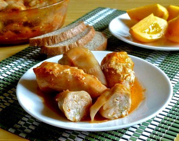 Голубцы рецепт с рисом и фаршем в духовке