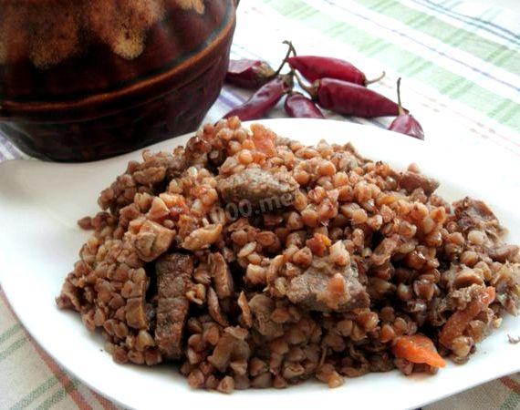 Гречка с мясом в духовке рецепт с фото пошагово
