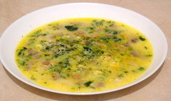 как приготовить суп с плавленными сырками и грибами