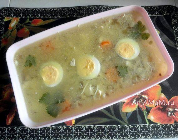 Холодец из курицы с желатином рецепт
