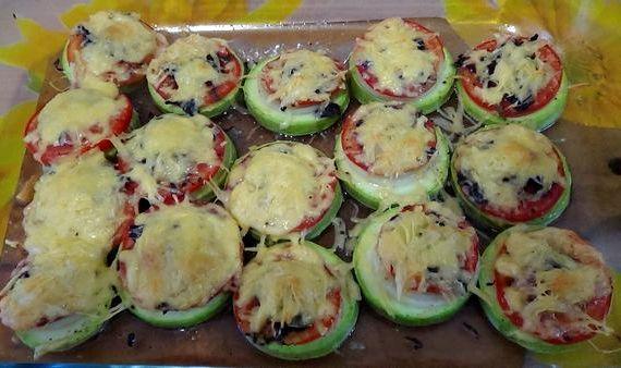 Кабачки в духовке с сыром и помидорами рецепт с фото