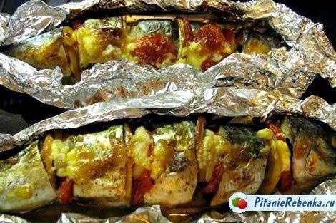 Как приготовить рыбу в духовке в фольге рецепт с фото Хотя наибольшей