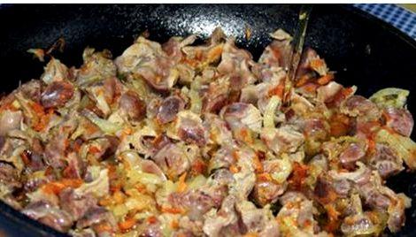 Как вкусно приготовить куриные желудки рецепт с фото на сковороде Если она очень густая, можно