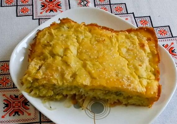капустный пирог с майонезом для ленивых рецепт