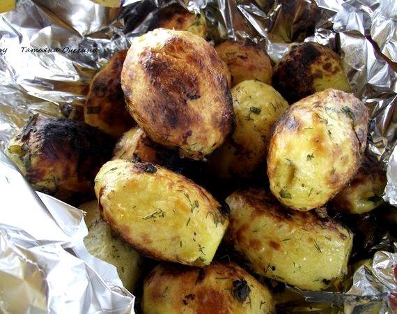 Картошка в фольге в углях рецепт