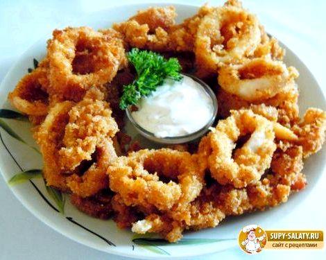 Кольца кальмара в кляре рецепт с фото пошагово Кляр для любой хозяйке просто