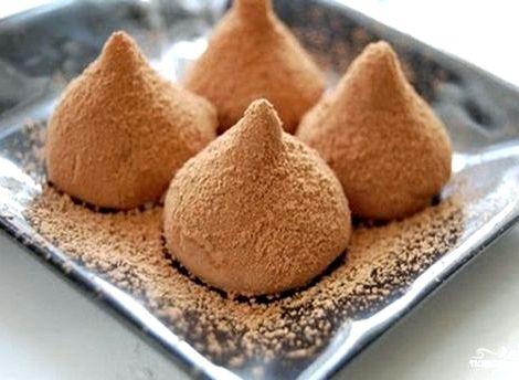Конфеты трюфели в домашних условиях рецепт с фото Добавить сахарную пудру