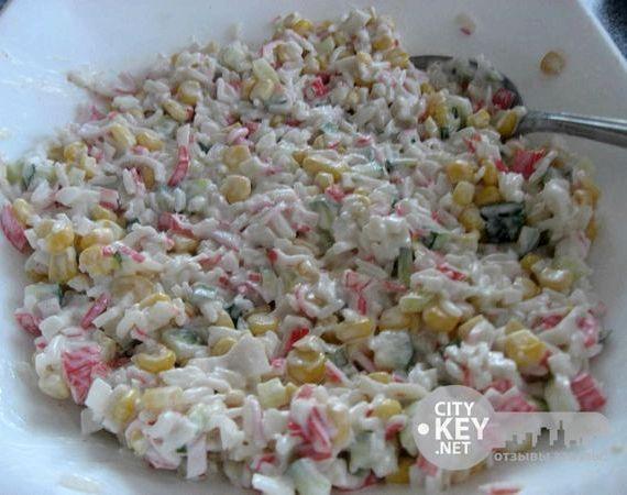 крабовый салат видео рецепт