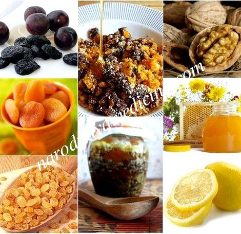 Курага чернослив грецкий орех мед лимон для иммунитета рецепт чернослива            100
