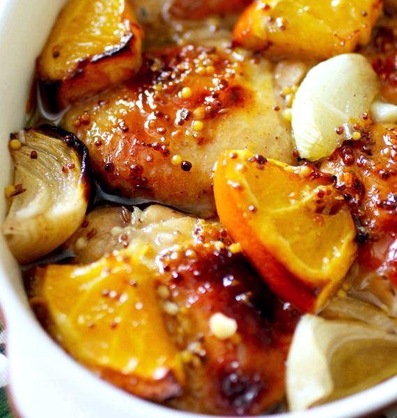 Курица с апельсинами в духовке рецепт