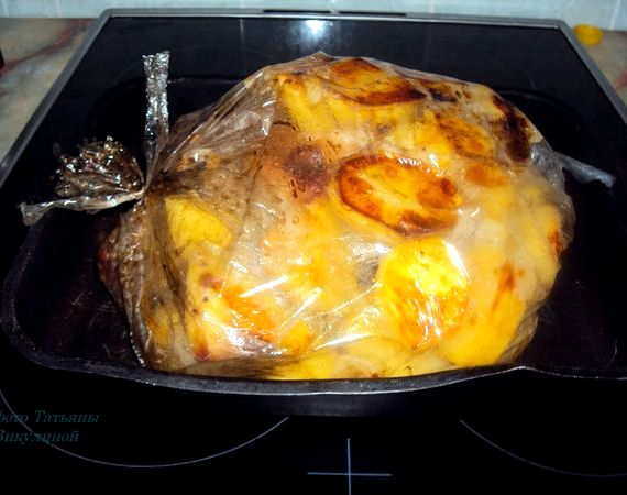 Курица в рукаве в духовке рецепт с фото