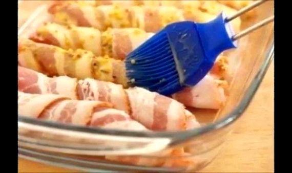 Куриное филе в беконе в духовке рецепт с фото