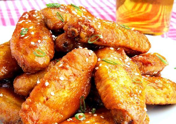 Куриные крылышки в медово соевом соусе в духовке рецепт