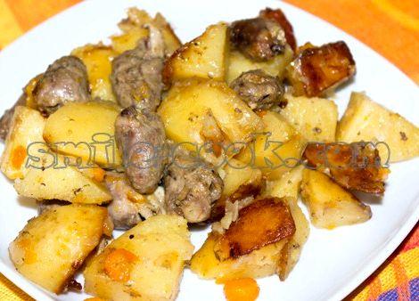 Куриные сердечки и печень рецепт мускатный орех