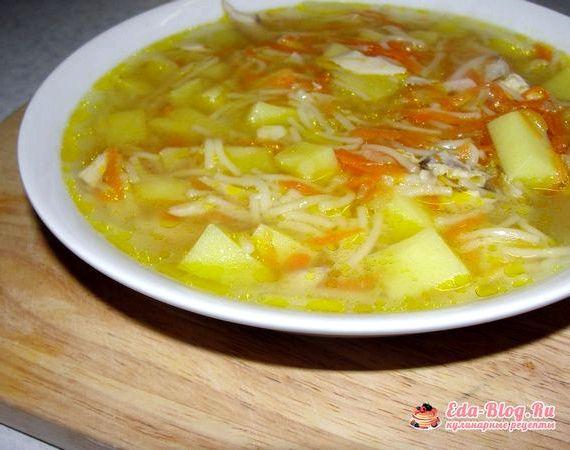 Суп лапша с курицей и картошкой рецепт