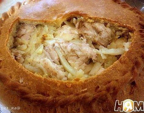 Курник с курицей и картошкой рецепт с фото можно двумя
