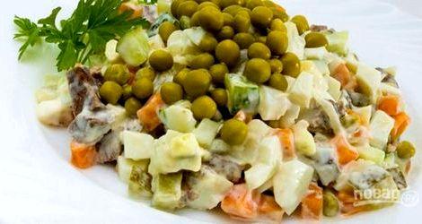 Мясной салат рецепт классический с говядиной калорийности продуктов, то возможно