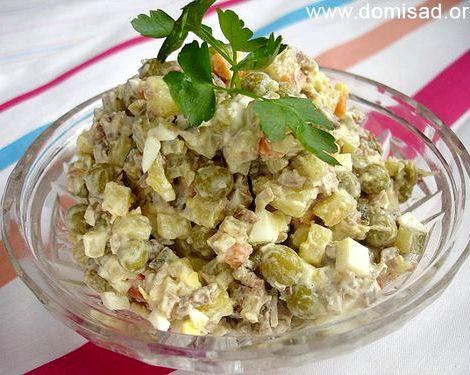 Мясной салат рецепт классический с говядиной луком на сковороде