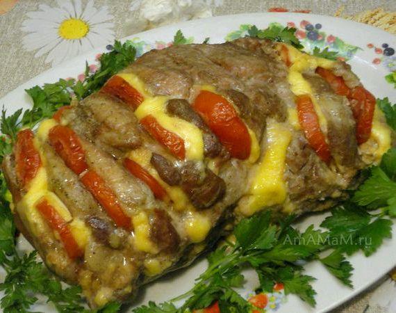 Мясо гармошка в духовке рецепт с фото из свинины