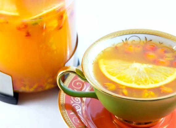 Облепиховый чай рецепт как в шоколаднице
