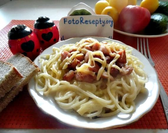 Паста карбонара классический рецепт с фото